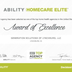 Home Care Elite Certificate
